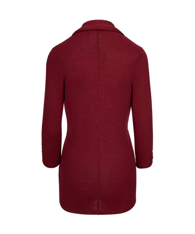 SHAWL COLLAR CARDIGAN, Ruby, hi-res