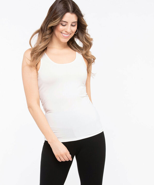 Built-Up Scoop Neck Cami, Milkshake, hi-res