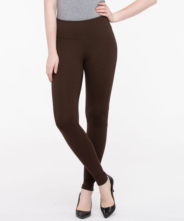 Luxe Ponte Dark Brown Legging, Dark Brown, hi-res