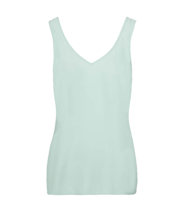Double-V Woven Layering Cami, Cool Mint, hi-res