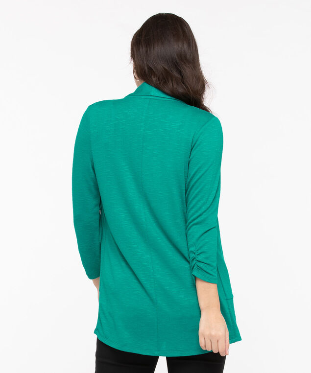 Shawl Collar Cardigan, Jade, hi-res