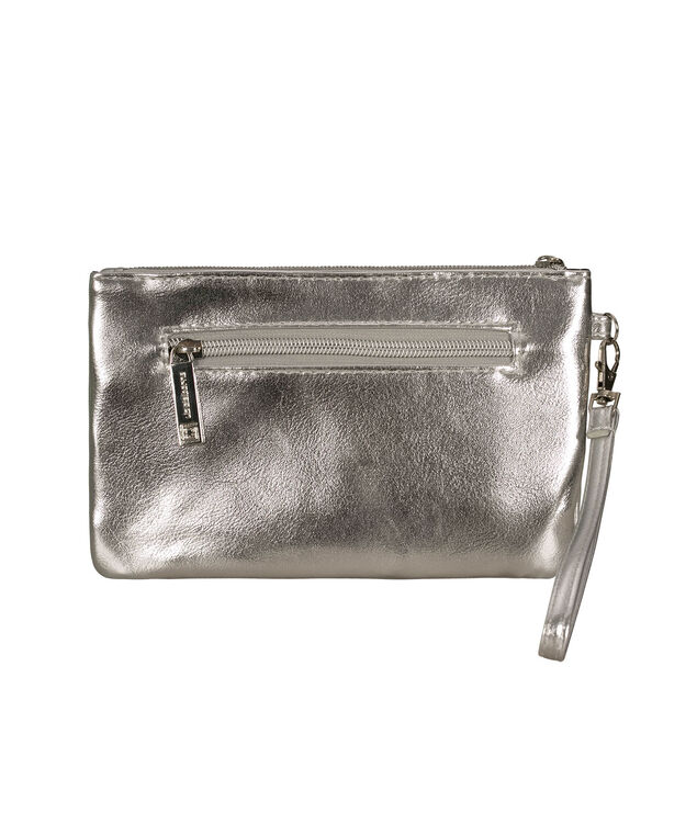 Silver Charging Wristlet, Silver, hi-res