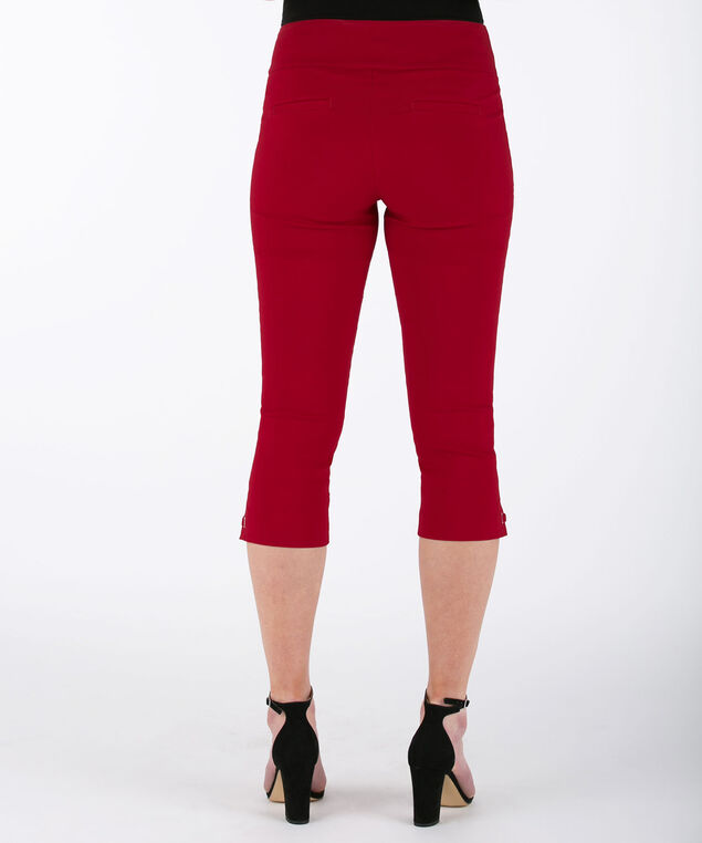 Side-Tab Microtwill Capri Pant, Poppy Red, hi-res