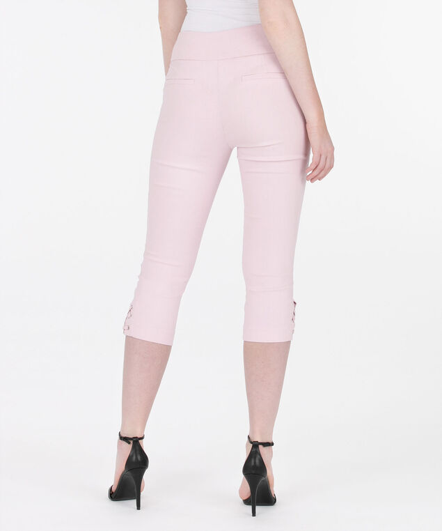 Microtwill Lace Up Capri, Cameo Pink, hi-res