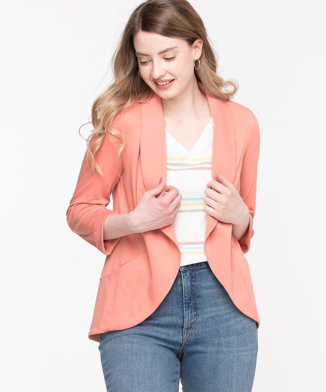 Terry Shawl Collar Cover Up, Rosette