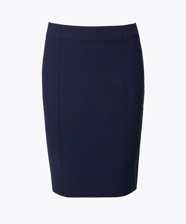 Microtwill Pull-On Pencil Skirt, Deep Sapphire, hi-res