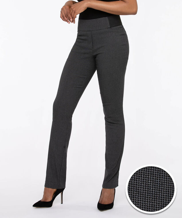 Microtwill Pull On Straight Leg, Grey Mix, hi-res
