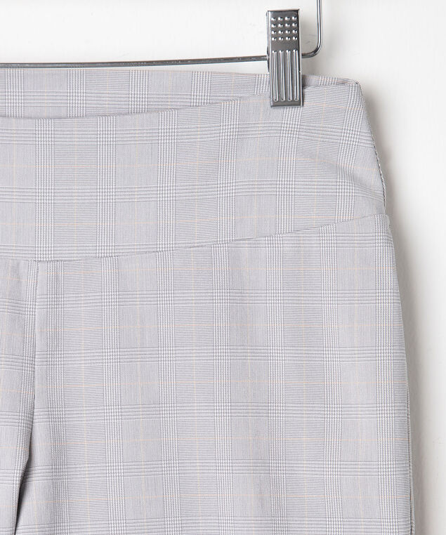 Jacquard Plaid Pull On Capri, Grey/Sand/Pearl, hi-res
