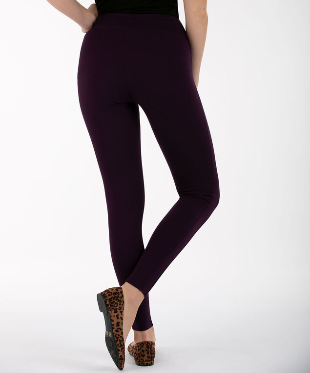 Luxe Ponte Legging, Blackberry, hi-res