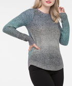 Curved Hem Ombre Sweater, Purple/Inky Blue/Heather Grey, hi-res