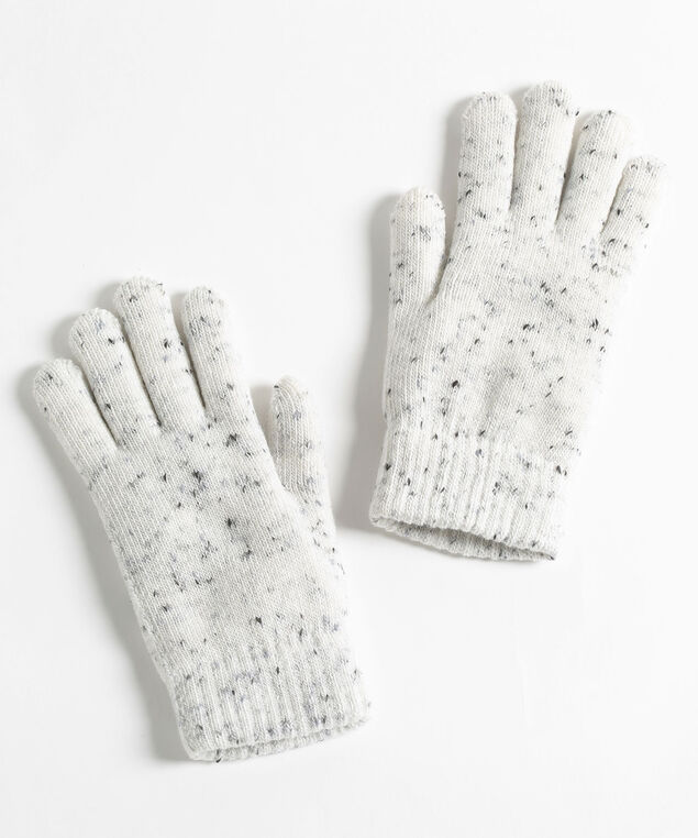 Confetti Knit Glove, Ivory Mix, hi-res