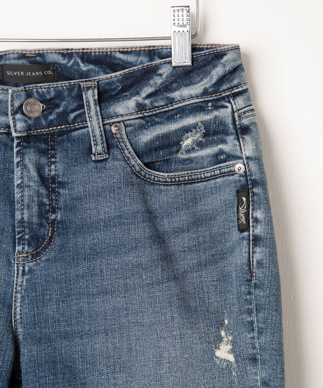 Silver Jeans Co. Avery Bermuda Short, Mid Wash, hi-res