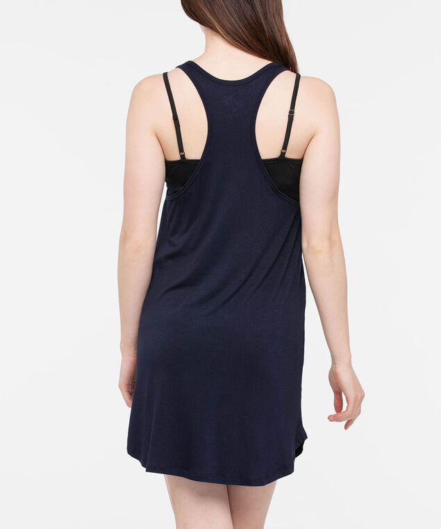 Sleeveless Racerback Cover Up, Summer Navy, hi-res