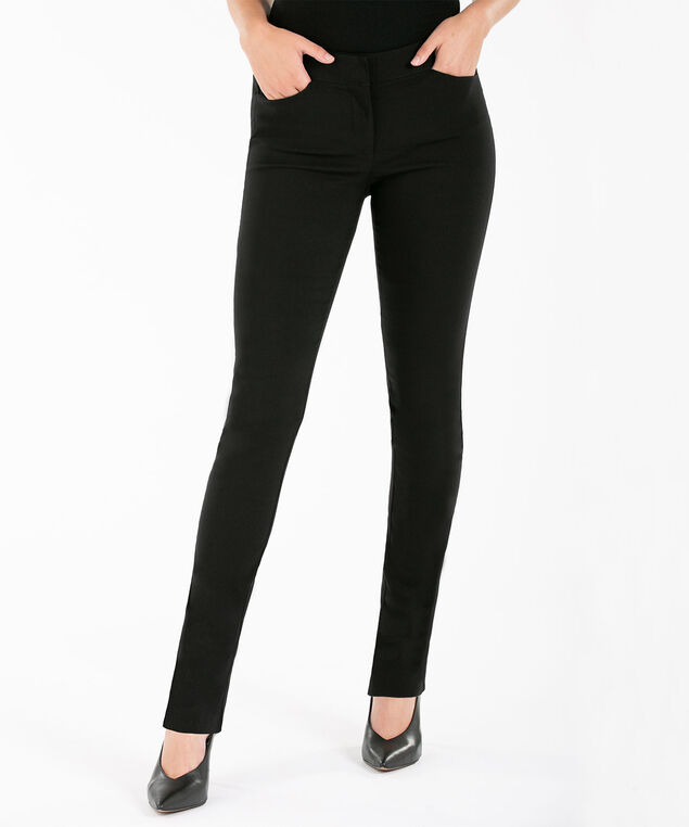 Microtwill Slim Leg, Black, hi-res