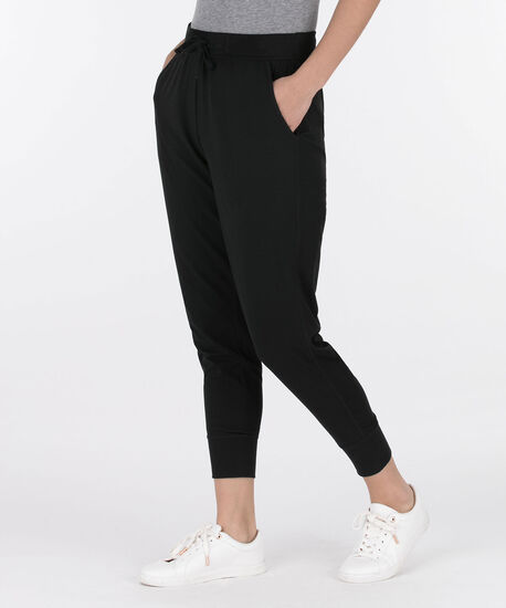Cropped Jogger Pant, Black, hi-res