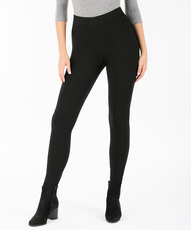 Luxe Ponte Pocket Detail Legging, Black, hi-res