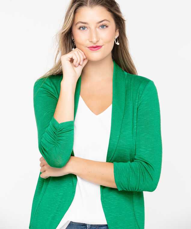 Shawl Collar Cardigan, Green, hi-res