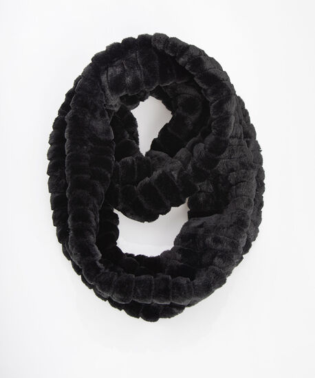 Faux Fur Eternity Snood, Black, hi-res