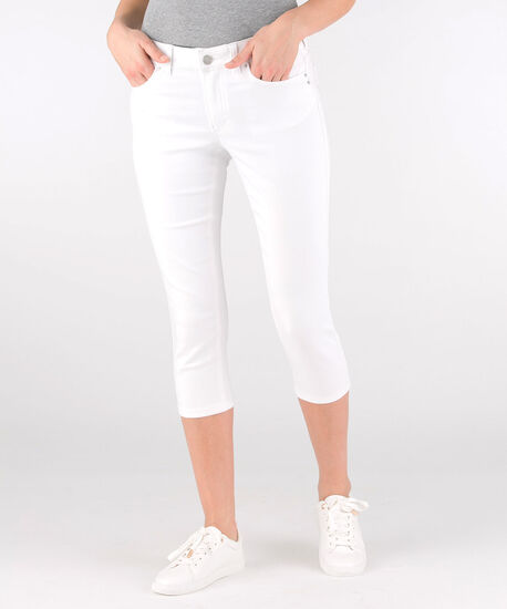 Fly-Front Jegging Capri, True White, hi-res