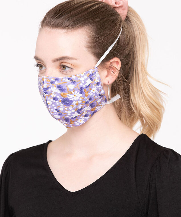 2 Pack of Face Masks, Black/Pearl/Pink/Lilac/Purple/Gold, hi-res