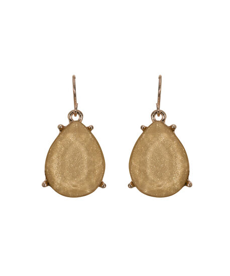 Glitter Stone Teardrop Earring, Soft Yellow/Rose Gold, hi-res