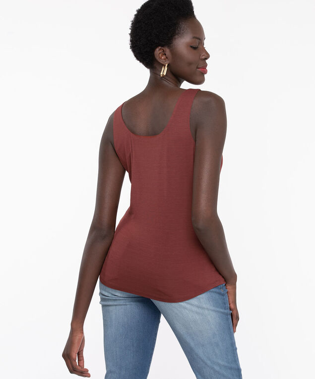 Double Layer Smoothing Cami, Cinnamon