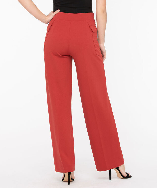 High Waist Wide Leg Pant, Dark Rust, hi-res
