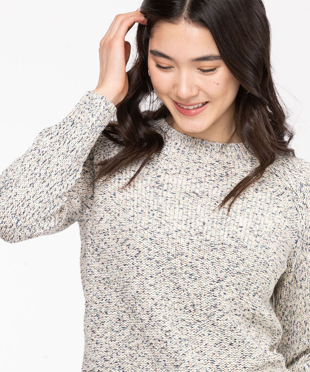 Eco-Friendly Yarn Raglan Sweater, Reseda Mix