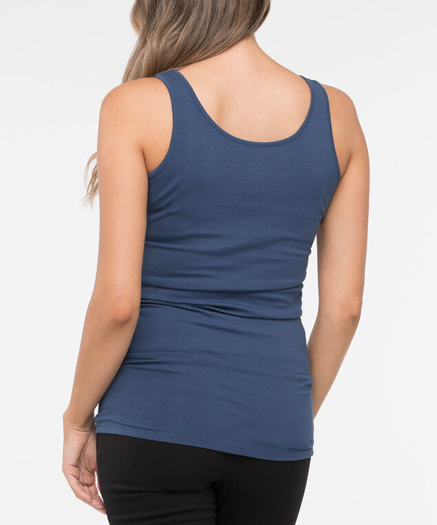 Tunic Length Cami, Inky Blue, hi-res