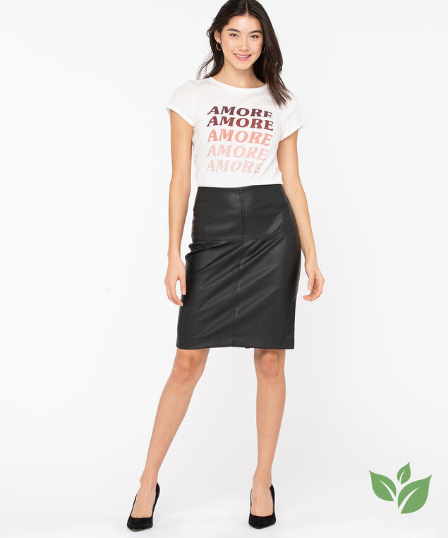 Organic Cotton Amore Graphic Tee, Pearl/Blush/Wine, hi-res