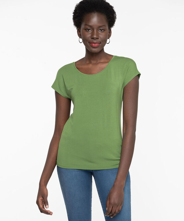 Extended Sleeve Layering Essential Tee, Willow Bough