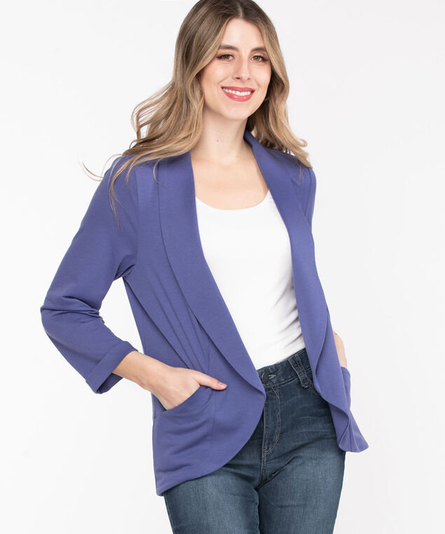Terry Shawl Collar Cover Up, Marlin