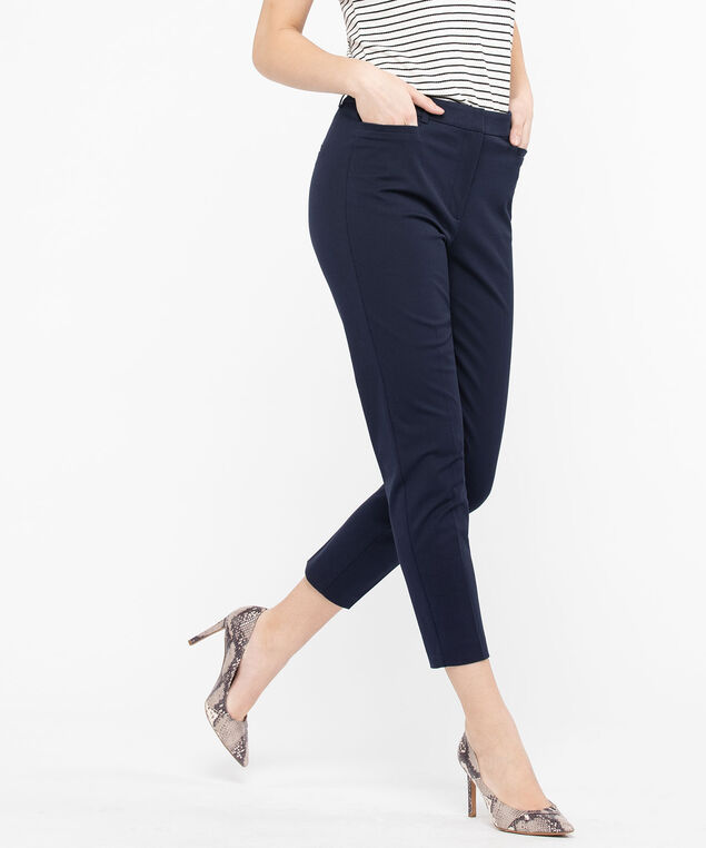 High Rise Slim Ankle Pant, Navy, hi-res