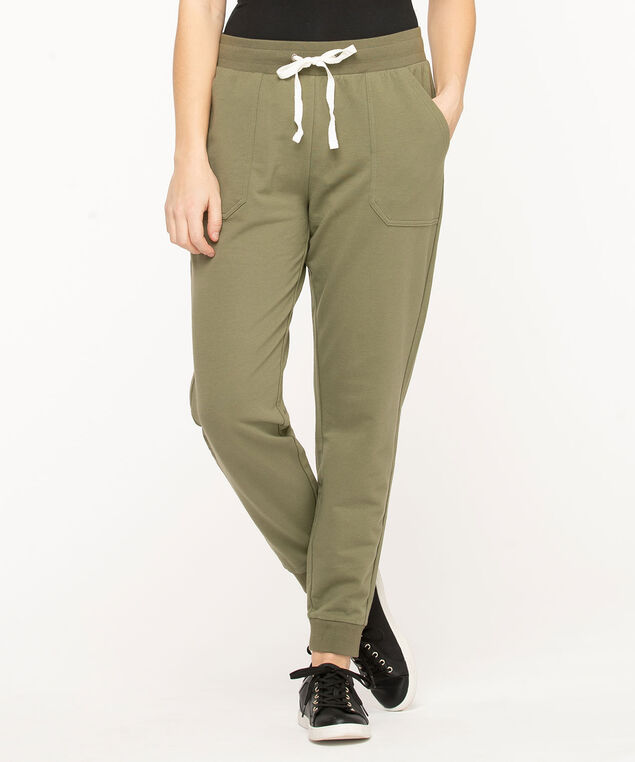 French Terry Drawstring Joggers, Four Leaf Clover