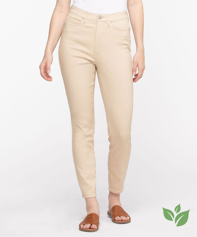 Eco-Friendly Rolled Skinny Leg Jean, Blanched Almond