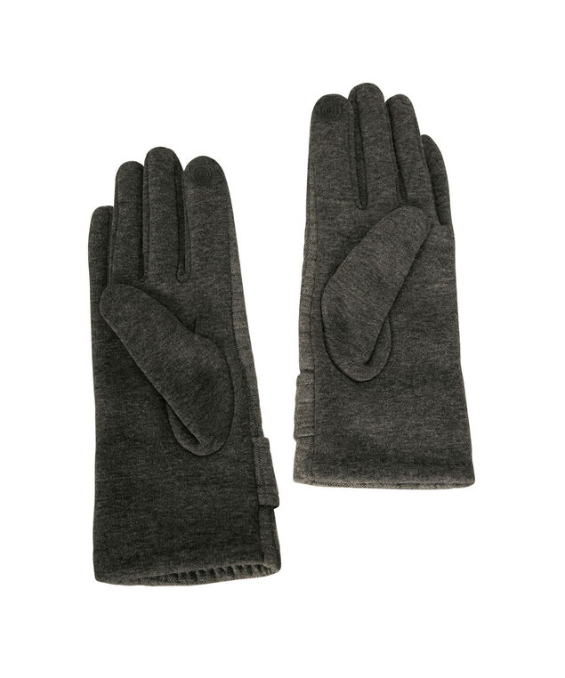 Quilted Texting Glove, Grey, hi-res