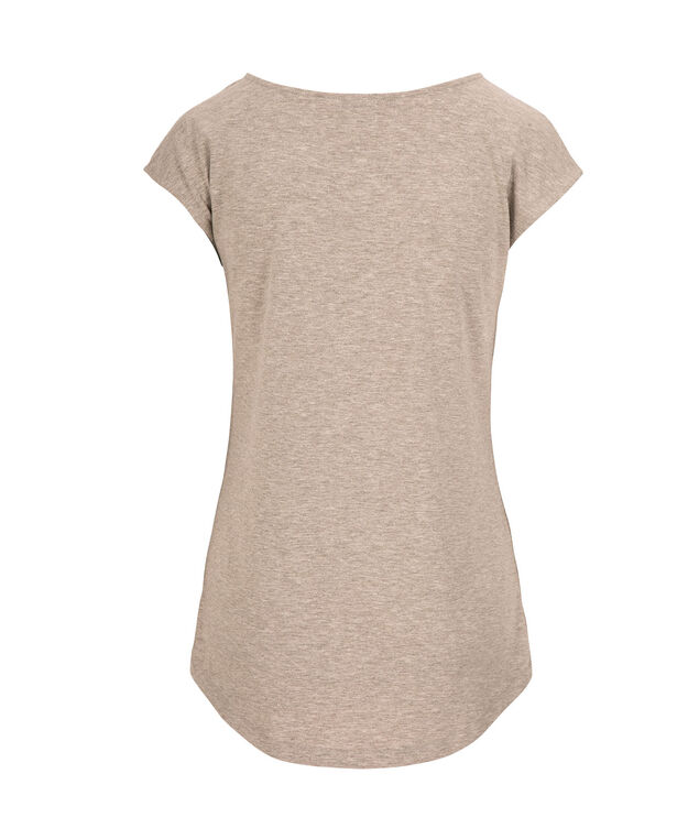 Mama Bear Scoop Neck Tee, Grey/White, hi-res