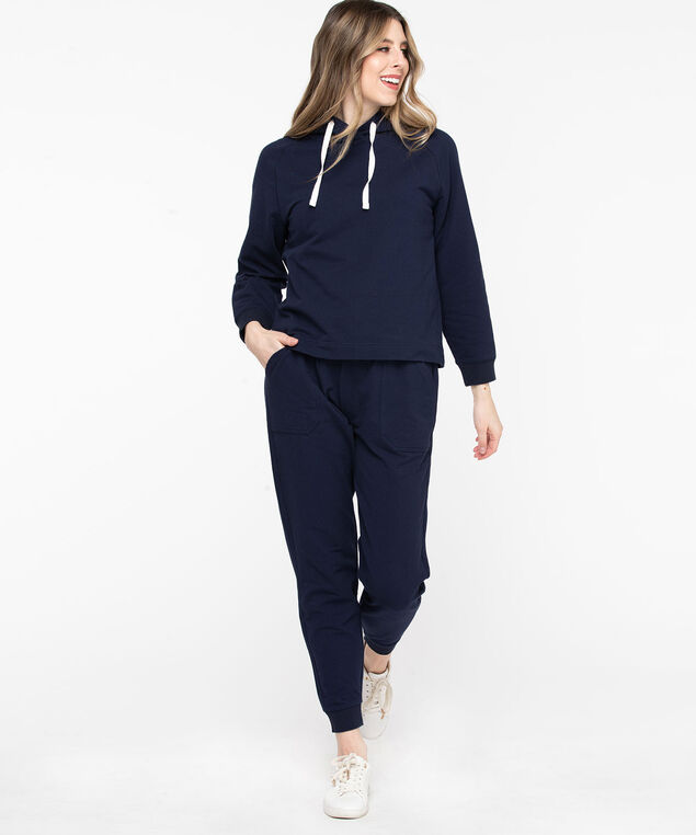 French Terry Drawstring Joggers, Peacoat