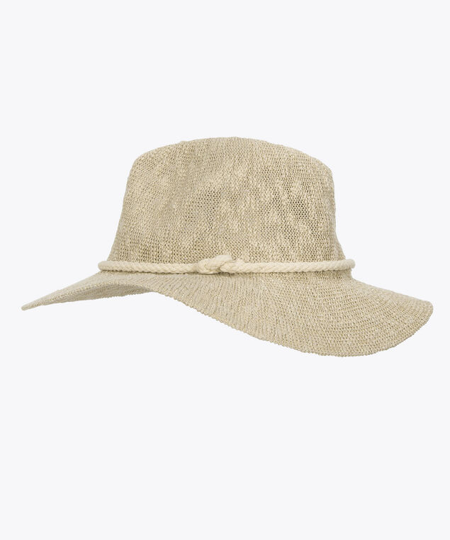 Lurex Slub Knit Panama Hat, Natural, hi-res