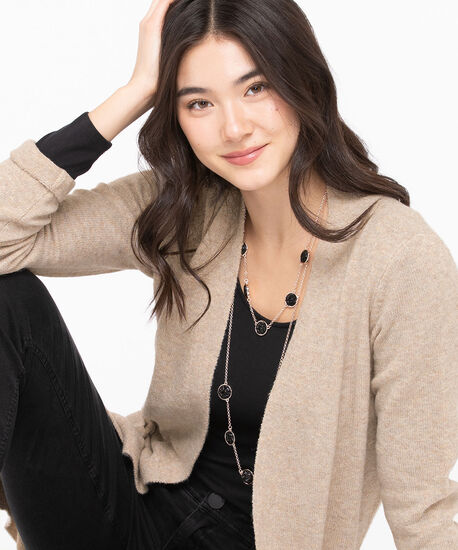 Soft Open Front Duster Cardigan, Almond Mix, hi-res