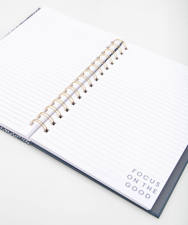 Focus On Good Spiral Notebook, True Navy/Gold, hi-res