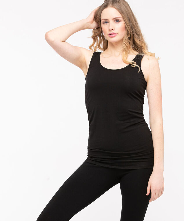 Longer Length Tunic Cami, Black, hi-res