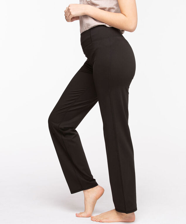 Straight Leg Yoga Pant, Black