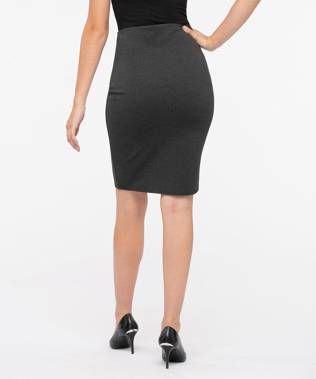 Ponte Pull On Pencil Skirt, Charcoal, hi-res