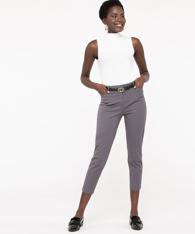 High Rise Slim Ankle Pant, Grey, hi-res