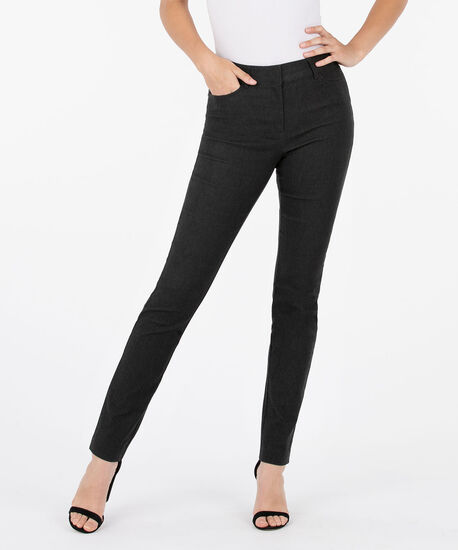 Microtwill Fly Front Slim Leg, Charcoal, hi-res
