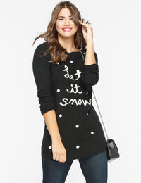 Let It Snow Boatneck Sweater