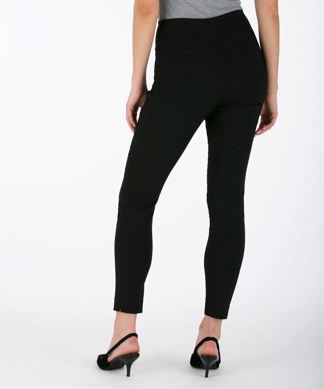 Microtwill High Rise Ankle Pant, Black/Grey, hi-res