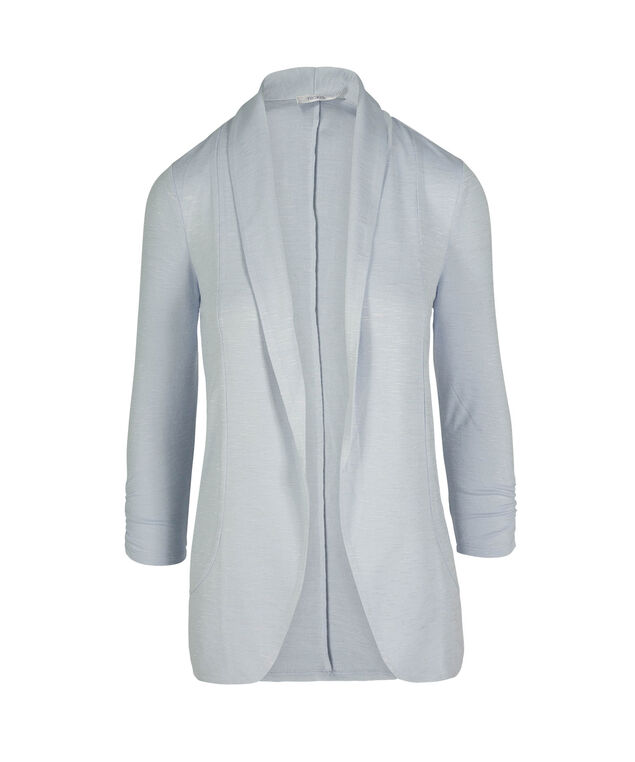 Shawl Collar Cardigan, Frosted Blue, hi-res