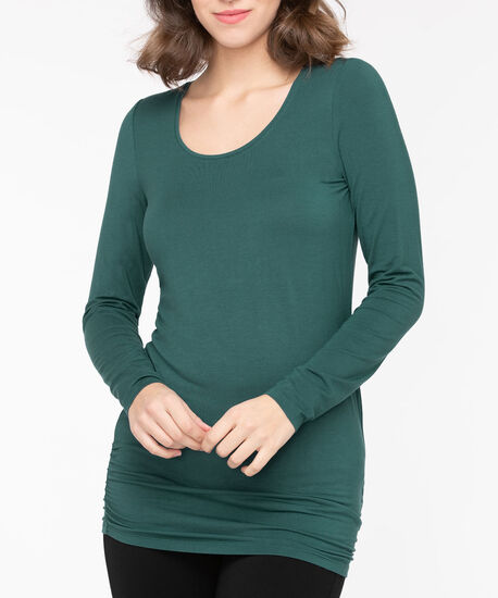 Ruched Essential Layering Top, Teal, hi-res